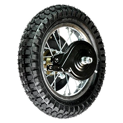 Monster Motion Rear Wheel Assembly for the Razor MX350 (Versions 23+) and MX400 (Versions - Assembly Wheel Replacement