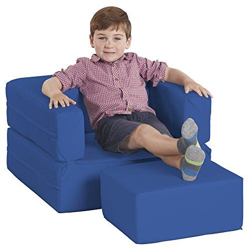 - ECR4Kids Softzone Flip-Flop Convertible Children's Chair, Blue