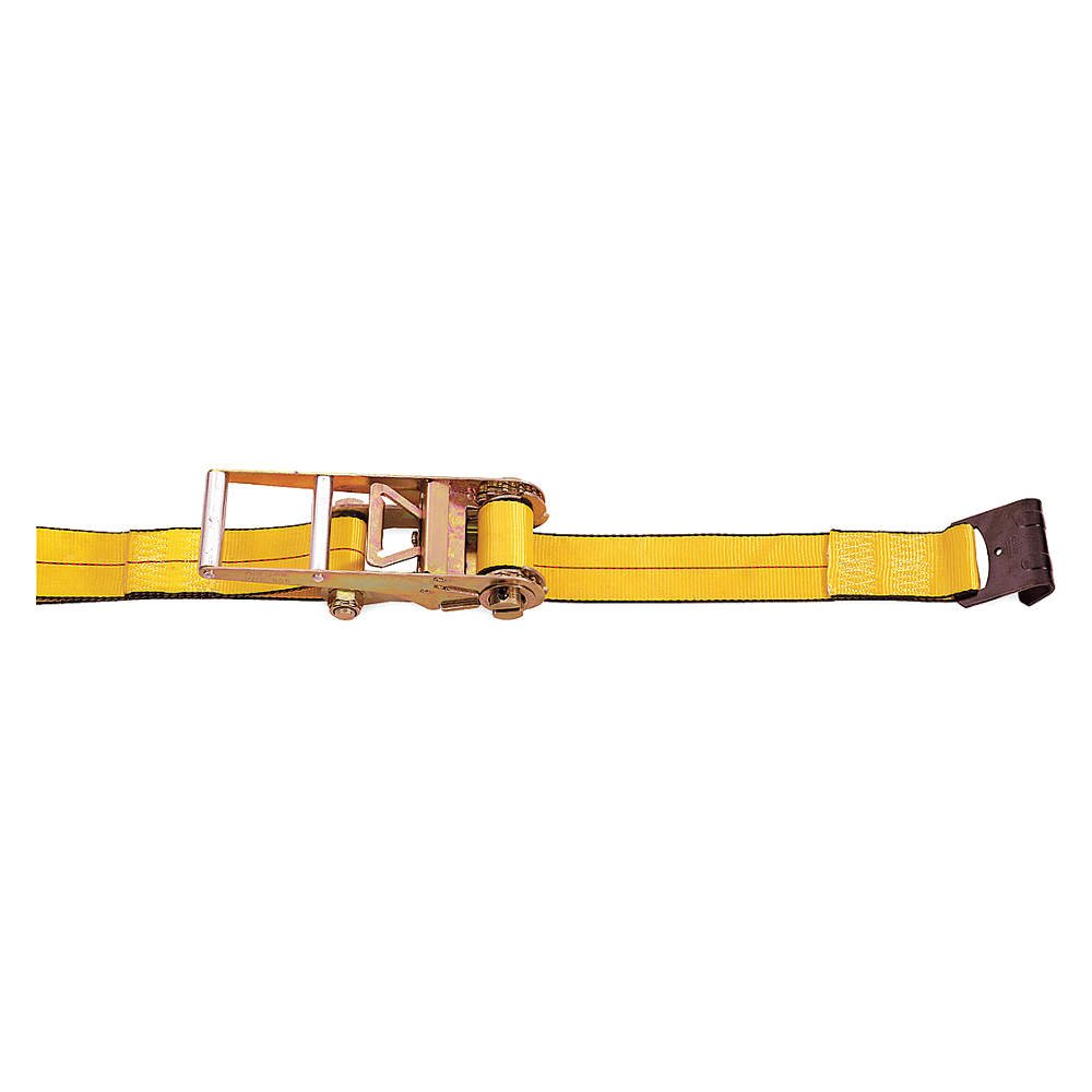Cargo Strap, Gold, 16, 200 lb., 27 ft., Steel