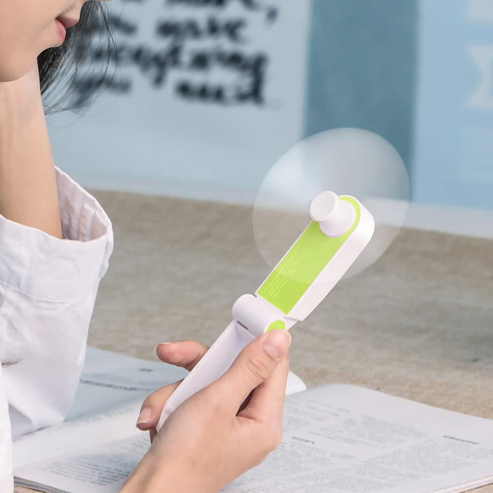 YZCX Mini Ventilateur Portable dext/érieur de Poche USB Rechargeable avec 2 Vitesses pour Maison Exercice Voyage Bureau Vert