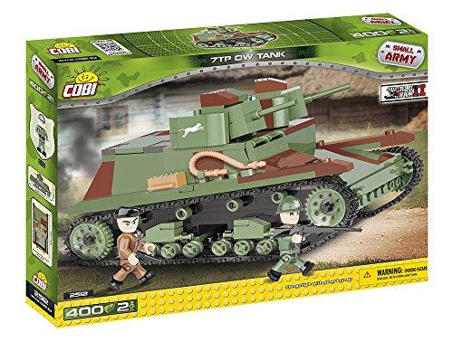 Cobi - 2512 - Jeu de Construction - 7 TP DW Tank, Vert/Noir/Marron