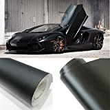 HOHO Black Matte Car Vinyl Wrap Paint Protective Self Adhesive Auto Foil Film 60''x98ft Roll