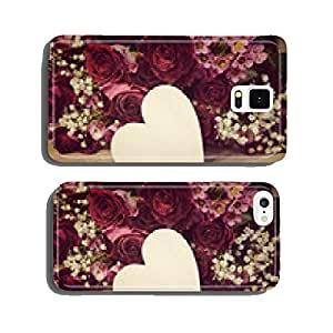 Card - Rose bouquet with heart - nostalgic cell phone cover case iPhone6