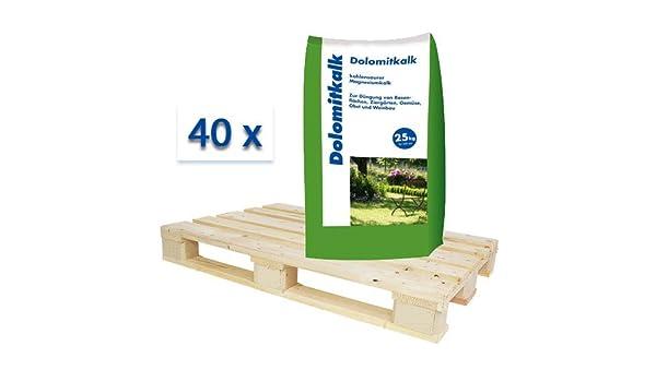 40 x 25 kg dolimita cal – Gama completa – Magnesio cal Jardín cal Césped cal – Calcio y magnesio en un abono: Amazon.es: Jardín