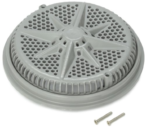 Grate Main Drain (Pentair 500106 8-Inch Gray Cover with Single Short Ring Replacement StarGuard Pool and Spa Main Drains)