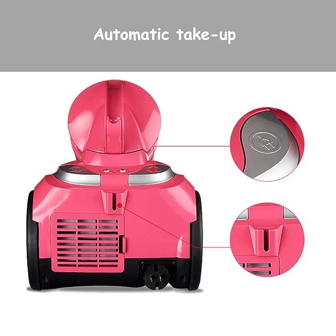 Ent Aspirapolvere Aspiradora, aspiradora de Alta Potencia/ciclón 1600W, [Recolección automática | Tubo de Acero Inoxidable | Cable de alimentación de 4,5 m ...