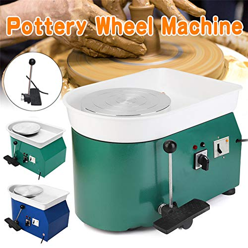 NAIZEA Electric Pottery Wheel Machine with Adjustable feet, 9.8 Inch Pottery Wheel DIY Machine for Clay Art Craft Ceramic Work, 110V250W (Green) by NAIZEA (Image #3)