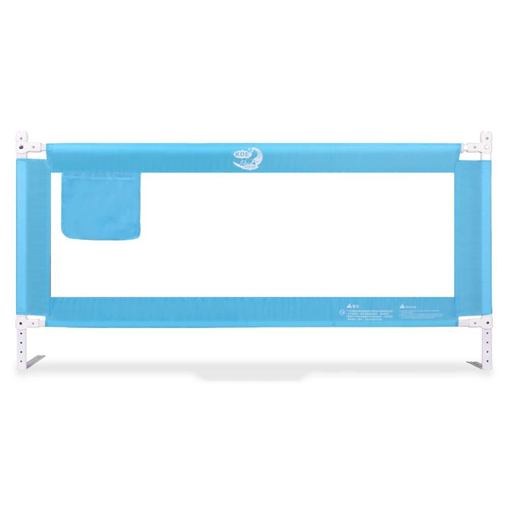 ZR- キッズベッドレール、折り畳みベッドガードチャイルド幼児安全柵ベビーシングルベッドレール通気性 (色 : Blue-200cm)  Blue-200cm B07LGK6NHM