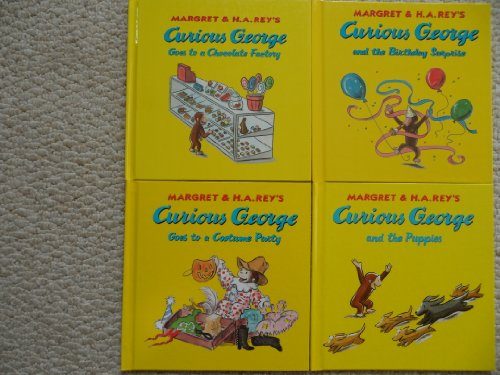Curious George Set (The Puppies ~ The Birthday Surprise ~ Goes to a Costume Party ~ Goes to a Chocolate Factory)