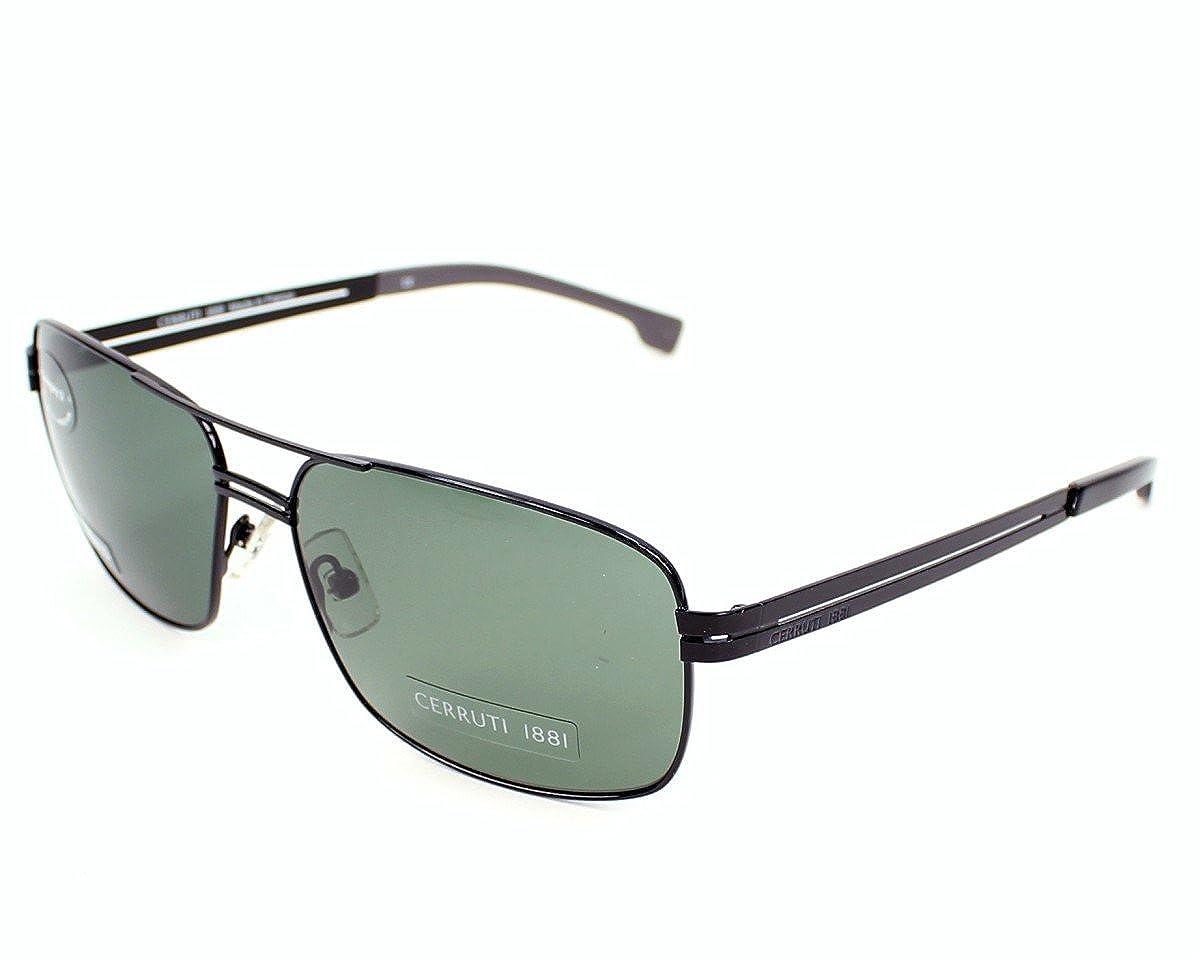3f52ae916ba9 Cerruti 1881 sunglasses CE8021 00 Metal Black Grey green polarised:  Amazon.co.uk: Clothing