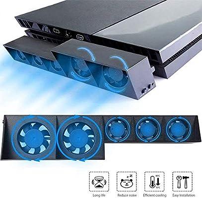 Ventilador de refrigeración para PS4, USB External Cooler 5 ...