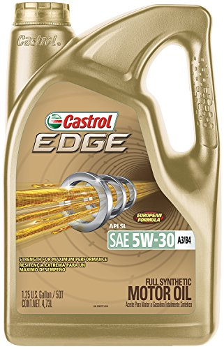Castrol 03037 EDGE 5W-30 A3/B4 Advanced Full Synthetic Motor Oil, 5 ()