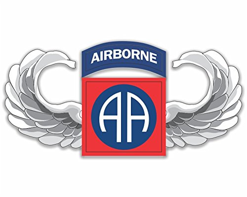 Military Vet Shop US Army 82nd Airborne Jump Wings Window Bumper Sticker Decal 3.8