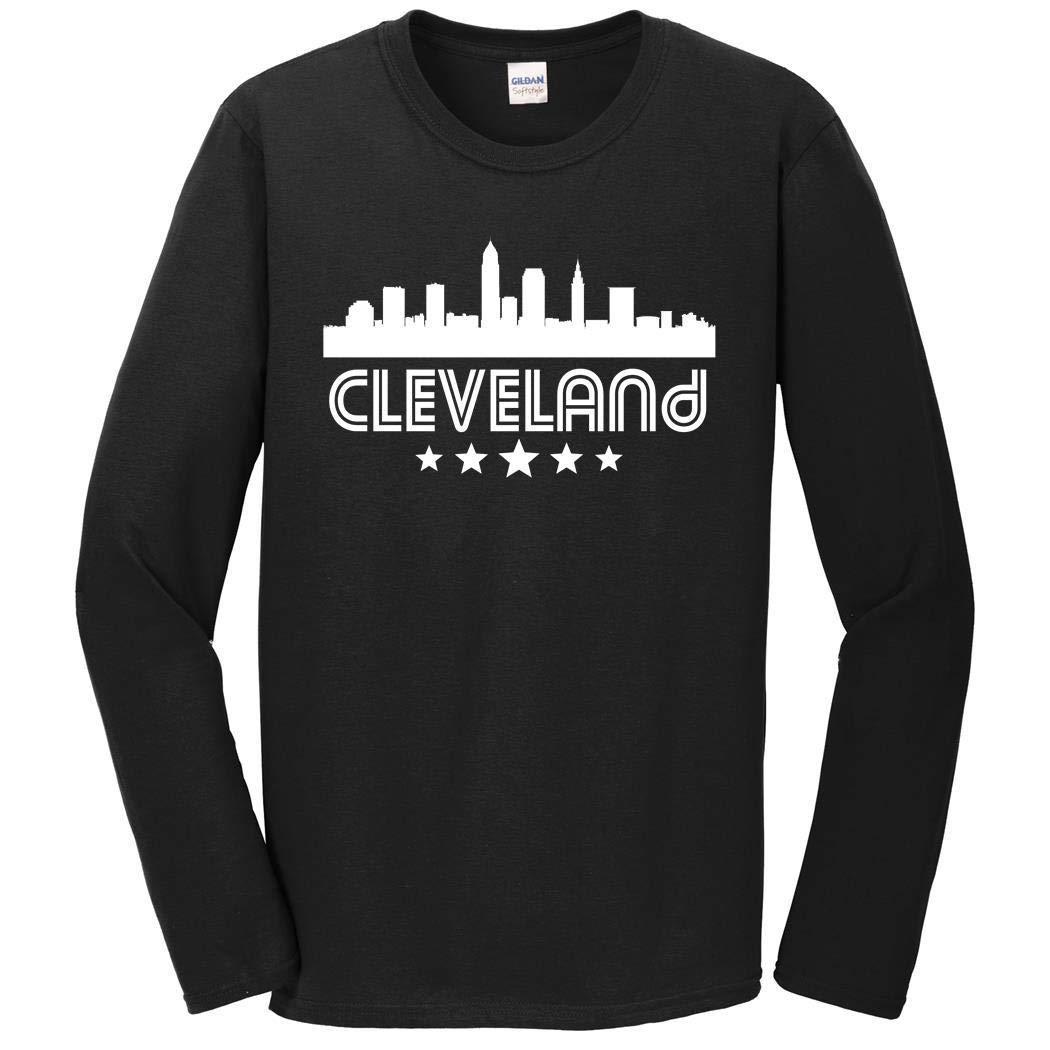 53d526181249 Amazon.com: Men's Cleveland Shirt - Cleveland Ohio Skyline Retro Style Long  Sleeve T-Shirt: Clothing