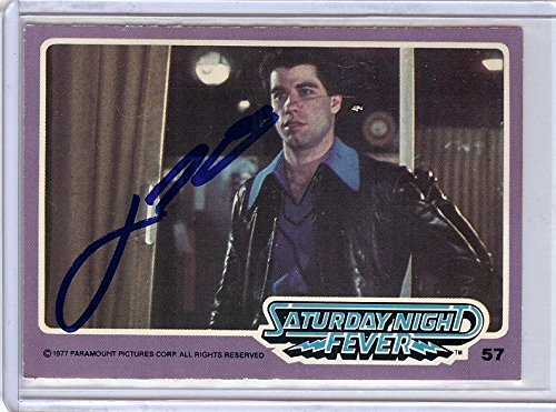Entertainment Memorabilia Autographs-original John Travolta Signed Autographed Trading Card Saturday Night Fever 57 Jsa U99016