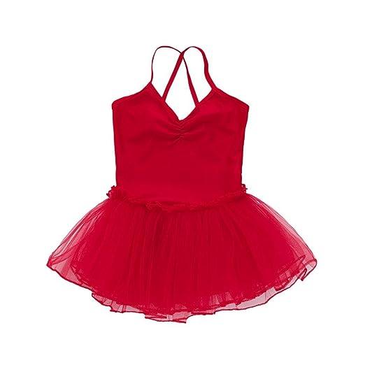ee0a5193b Amazon.com: morecome Girls Ballet Dress Tutu Leotard Dance Gymnastics Strap  Dress: Toys & Games