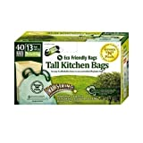 Green N Pack Eco Friendly 13 Gallon Drawstring Bag, Tall Kitchen Trash Bags,