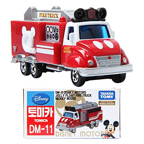 TAKARA TOMY TOMICA Disney Motors DM-11 Mickey Fire Truck Works Division Toy Car