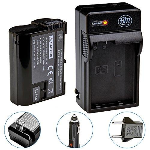 BM Premium EN-EL15B Battery and Battery Charger for Nikon Z6, Z7, D850, D7500, 1 V1, D500, D600, D610, D750, D800, D800E, D810, D810A, D7000, D7100, D7200 Digital Cameras