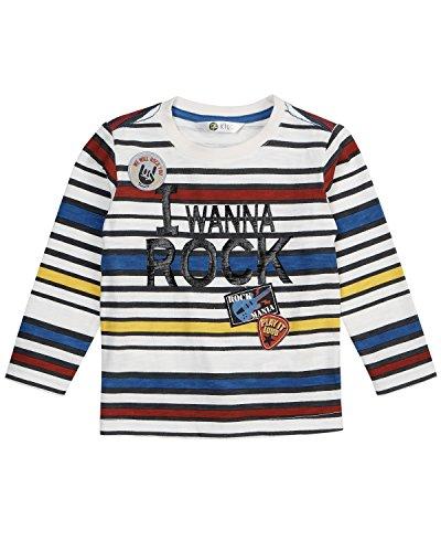 (Petit Lem Boys' Little Rock You L/s Knit T-Shirt, White 4)