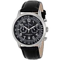 Lucien Piccard Men's LP-10526-01 Ferden Analog Display Japanese Quartz Black Watch