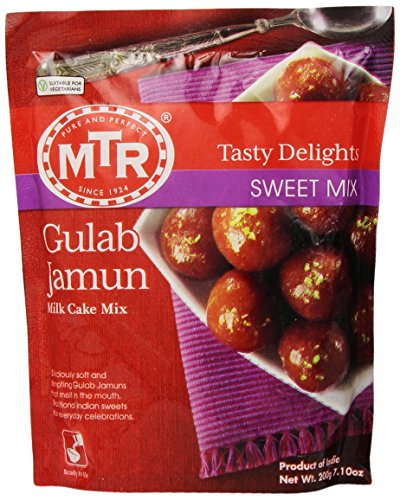 MTR Gulab Jamun Instant Mix (Milk Cake Mix), 7.1-Ounce Pouches (Pack of 24)