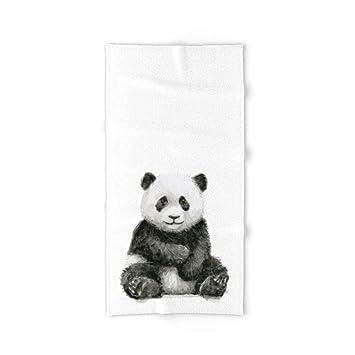 Donola Panda - Toalla de baño para bebé, diseño de Animales de Acuarela, 81 x 132 cm: Amazon.es: Hogar