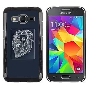 TopCaseStore / la caja del caucho duro de la cubierta de protección de la piel - Lion Abstract Art Painting - Samsung Galaxy Core Prime SM-G360