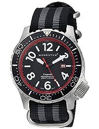 Momentum Men's 1M-DV74R7S Analog Display Japanese Quartz Black Watch