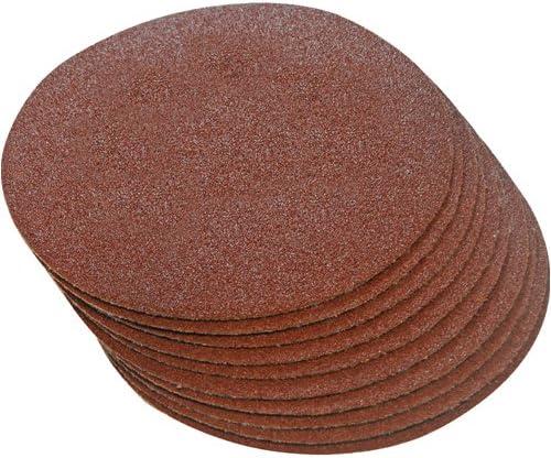 Grain 120 10 disques abrasifs auto-agrippants 300 mm