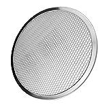 Fityle Round Aluminum Pizza Screen Baking Screen Seamless-Rim Crisper Pan 6''-17'' - 17inch