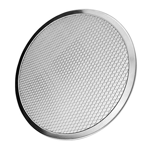 Aluminium Pizza Baking Tray 6inch -17inch Flat Screen Wire Mesh Food Crisper - Silver, 16inch (Oven Big Tray)