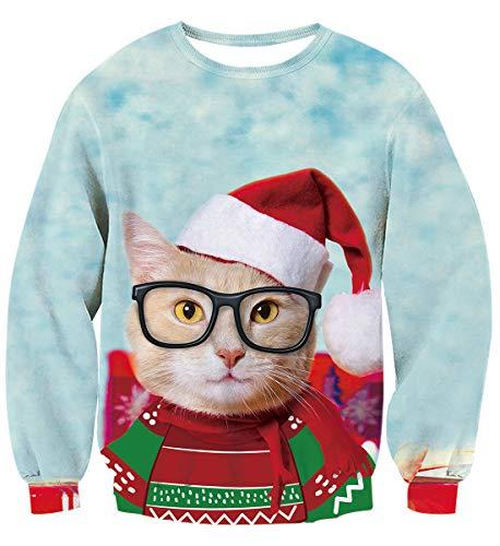 Hilarious Christmas Cat Ugly Shirt