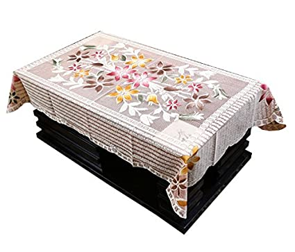 Kuber Industries Cotton Centre Table Cover Set - Brown