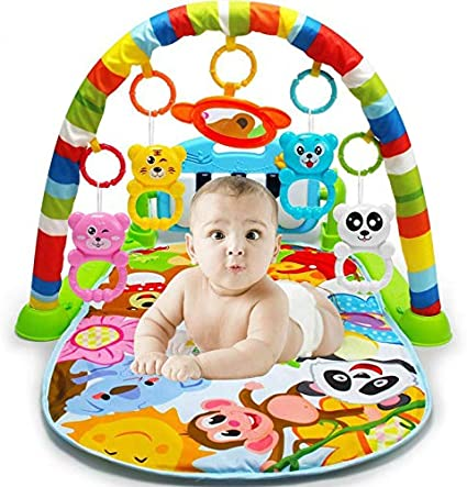 Baby Inflatable Rainbow Go /& Grow Activity Gym Friendly Animals Play Mat Kids