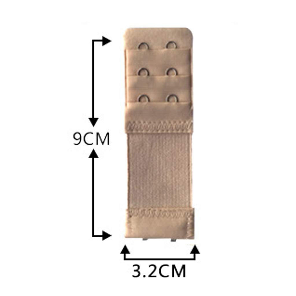 SimpleLife Damen 2 Haken-BH-Extender elastische Unterw/äsche-Verl/ängerungsgurt-Clip-Expander-Schnalle