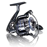 AiSung Smooth Baitcasting Spinning Fishing Reels with 5.5:1 Gear Ratio Metal Body Collapsible Handle12+1BB for Freshwater Saltwater Fishing (Blue)(GA3000) For Sale