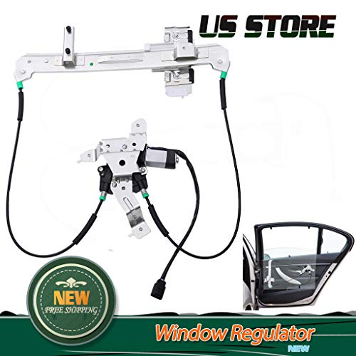 (Eoeth Rear Right Window Regulator W/Motor for Cadillac Escalade/Chevy Tahoe/GMC Yukon(Shipped by US) Free Post)