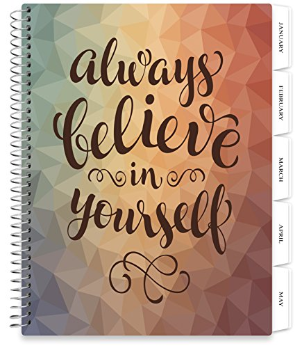 Tools4Wisdom Planners 2018 Daily Planner with Calendar - 8.5 x 11 Spiral Softcover with Monthly Tabs (Always Cover)