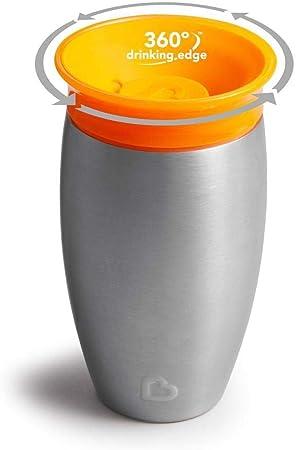 296 ml verde Munchkin Miracle 360/° Vaso antiderrames en acero inoxidable