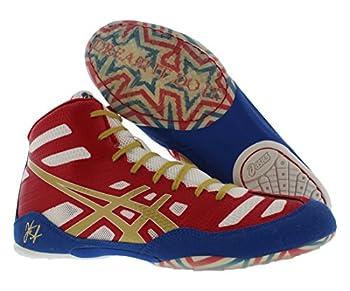 Asics Men's Jb Elite Wrestling Shoe,true Redolympic Goldwhite,8.5 M Us40.5 Eu 1