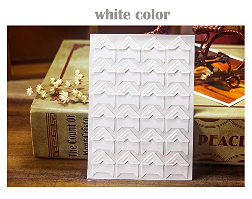 White 360 Count Self-Adhesive Acid Free Photo Corners for Scrapbooks Memory Books
