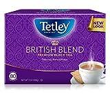 Tetley British Blend Premium Black, 80-Count Tea Bags, 7 Ounce, (Pack of 6)