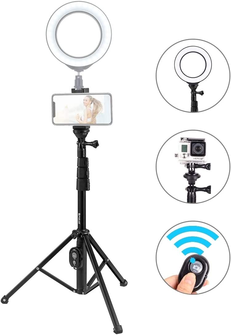 CHENYANTUB Camera Accessories Bluetooth Shutter Remote Selfie Stick Tripod Mount Holder for Vlogging Live Broadcast