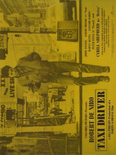 Taxi Driver - Robert De Niro Yellow Horizontal Movie Poster