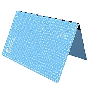 Cutting Mat, Self Healing Cutting Mat, Hobby Cutting Mat, Sewing Cutting Mat, Foldable Cutting Mat Imperial 23 x 17 inch A2 - Sky Blue