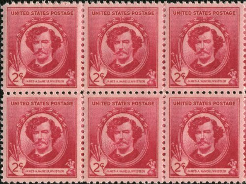 james-a-mcneill-whistler-painter-etcher-885-block-of-6-x-2-us-postage-stamps