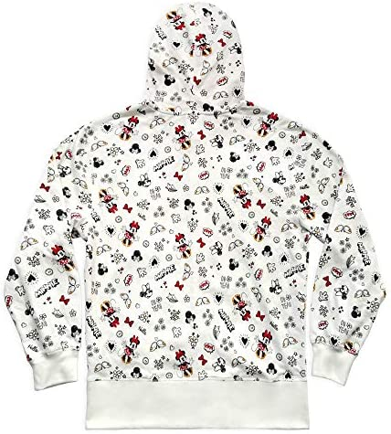 Disney Minnie Mouse Zip Hoodie for Women, Size 2XL