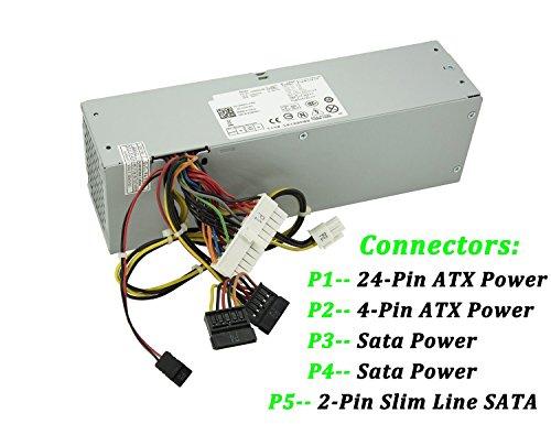 240W Watt Desktop Power Supply Unit PSU for Dell Optiplex 390 790 960 990 3010 7010 9010 Small Form Factor SFF Systems 3WN11 PH3C2 2TXYM 709MT H240AS-00 DPS-240WB by IMSurQltyPrise (Image #1)
