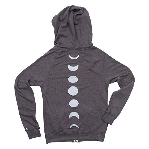 Moon Phase Women's French Terry Knit Zip-Up Hoodie
